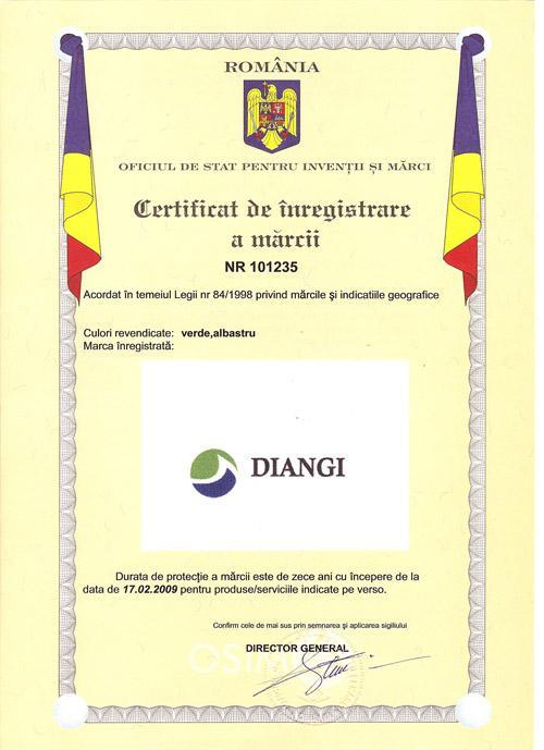 Certificat Marca Inregistrata