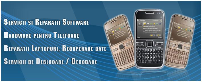 Service telefoane, decodari telefoane, servicii software / hardware mobile